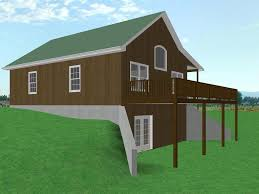 hillside cabin plans house plan decor remarkable ranch plans with walkout basement for