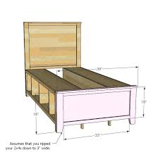 storage bed twin ana white build a hailey free and easy diy