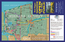 New York Bus Map by Niagara County U003e County Information U003e Public Transportation Schedule