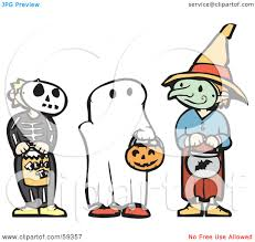 royalty free rf clipart illustration of trick or treating