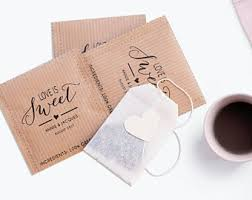 personalized tea bags personalized tea bag etsy