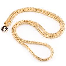 plated necklace chains images 4mm men 39 s 14k yellow gold plated franco chain hip hop jewelry jpg