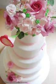 pink and white wedding cake cakecentral com