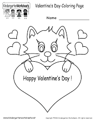 valentine u0027s day coloring pages free kindergarten holiday