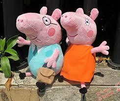 l zone peppa pig series luxury plush doll toys stuffed toys