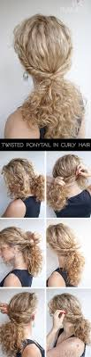 step bu step coil hairstyles curly hairstyle tutorial the twist over ponytail hair romance