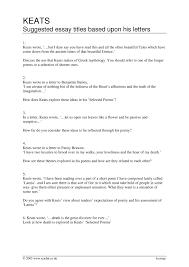 ks4 keats john teachit english