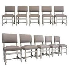 Ostrich Upholstery Ten Spanish Dining Chairs With Faux Ostrich Upholstery At 1stdibs