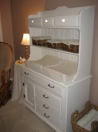 Changing Tables Cheap The Hutch I Refinished To Use As A Changing Table For S