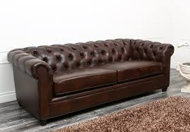 Sofas Chesterfield Harlem Leather Chesterfield Sofa Reviews Birch