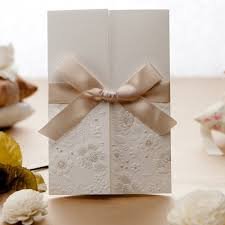 engraved wedding invitations simple but white engraved floral ribbon wedding invitation