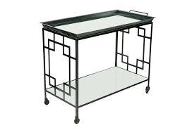 Art Deco Style Mid Century Art Deco Style Metal Bar Cart Serving Table Omero