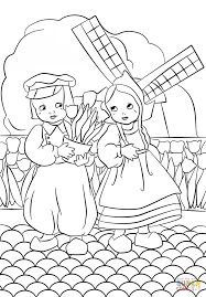 dutch boy and coloring page free printable coloring pages