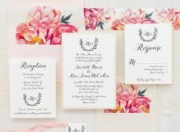 wedding invitations jakarta peony wedding invitation lot laser flower cut wedding invitations