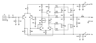 mosfet amplifier wiring diagram components