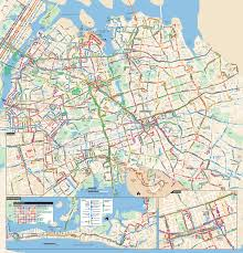 New York Maps by Large Detailed Queens Bus Map Nyc New York City Queens Large