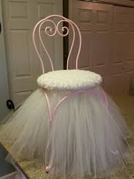 vanity chair with skirt princess stool chair with tulle skirt shabby chic pinterest