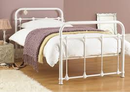 White Metal Bed Frame Single White Metal Single Bed Frames Metal Beds Popideas