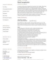 Medical Assistant Receptionist Resume Hotel Receptionist Resume Sample Hotel Receptionist Cv Sample