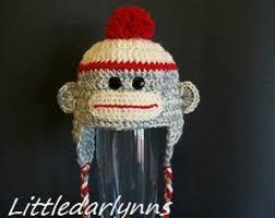 Sock Monkey Halloween Costume Sock Monkey Hat Etsy