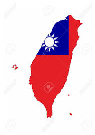 Flag Taiwan Taiwan Country Flag Map Shape National Symbol Stock Photo Picture