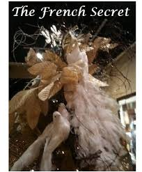 christmas white peacock ornament tree topper decoration wreath