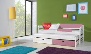 chambre enfant bois massif vente lit gigogne en bois massif verso finition blanc mobilier en