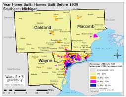 Counties In Michigan Map by Region U0027s Oldest Homes Primarily Concentrated In Detroit