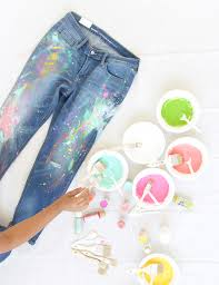 save hundreds by creating your own pair of diy splatter paint