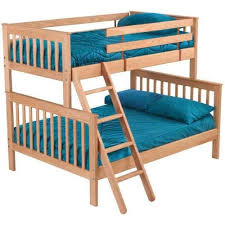 crate designs pine bedroom mission style twin over double bunk bed