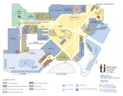 Map Of Casinos In Las Vegas by Treasure Island Hotel Map Treasure Island Las Vegas Map
