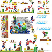 Super Mario Home Decor 7 Design New 2016 New Pvc Super Mario Bros Wall Sticker Home Decor