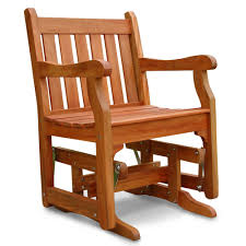 Outdoor Glider Chair The Brazilian Eucalyptus Glider Furniture Hammacher Schlemmer