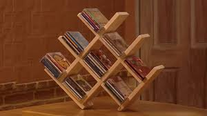 How To Make Wooden Shelving Units by How To Build A Wooden Cd Rack Youtube