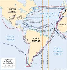 American Route Map by European Exploration The Age Of Discovery Britannica Com