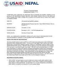 cover letter for usaid job cover letter templates