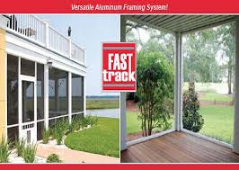 Patio Enclosure Systems Fast Track Porch Screen Sytem Versatile Aluminum Framing Systems