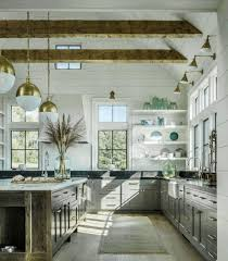 lighting for vaulted ceilings dark gray kitchen cabinet island