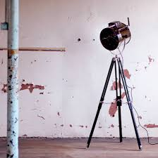 standing tripod hollywood industrial floor studio lamp by made