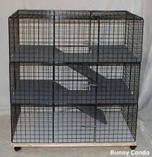 Stackable Rabbit Hutches Indoor Rabbit Cage Ebay
