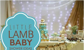 a little lamb boy baby shower spaceships and laser beams