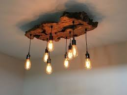 Log Cabin Lighting Fixtures Jar Light Fixture Reclaimed Wood Wall Sconce Barnwood Image
