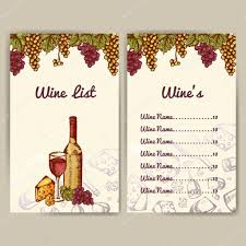 design for wine list restaurant template for invitation menu