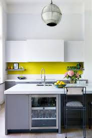yellow and white kitchen ideas yellow splashback kitchen design ideas pictures