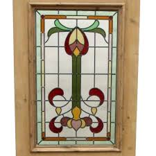 original 3 panel exterior stained glass door from phs