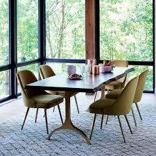 live edge table west elm cast trestle 86 dining table live edge antique brass trestle