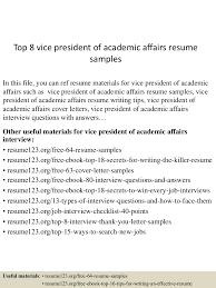 Construction Vice President Resume Top8vicepresidentofacademicaffairsresumesamples 150527132016 Lva1 App6891 Thumbnail 4 Jpg Cb U003d1432734163