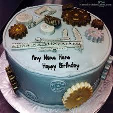 cake for mechanical engineer with name