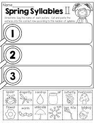 spring syllables cut and paste best of back to