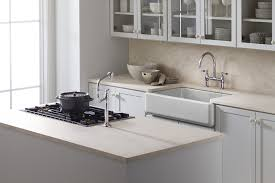 Kohler Apron Front Kitchen Sink Kohler K 6489 0 Whitehaven Self Trimming Apron Front Single Basin